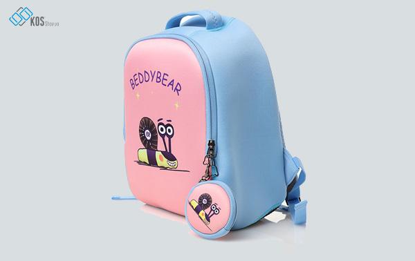 Balo BeddyBear SuperMan - Hồng xanh