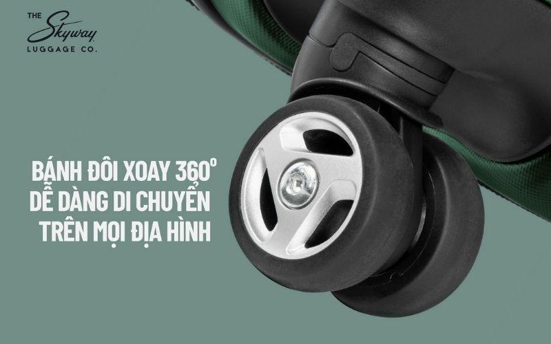 Đặc điểm của vali kéo đó chính là thiết kế của bánh xe