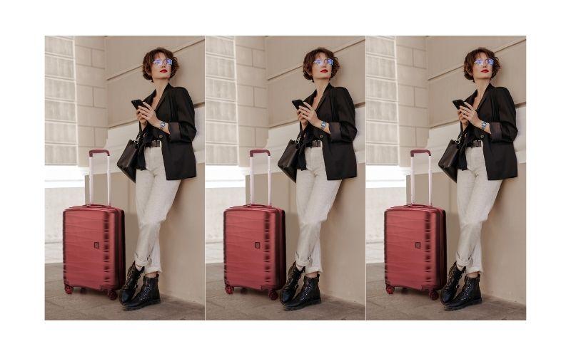 Màu sắc cũng là điểm nổi bật của chiếc vali kéo có bánh xe